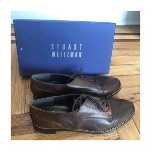 Brand New Stuart Weitzman Tomboy Oxford Dark Brown